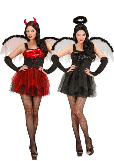 déguisements duo Halloween, déguisements couples halloween, déguisement diablesse halloween, déguisement ange noir, Déguisements Couple, Diablesse et Ange Noir