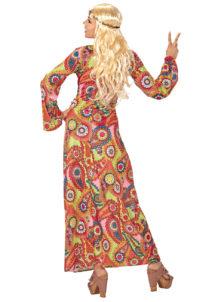 DEGUISEMENT-HIPPIE-0654-2, Déguisement Hippie, Robe Longue 70s