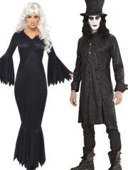 déguisement halloween couple, déguisement à deux, déguisement couple halloween, déguisements halloween adulte, costume halloween adulte, déguisement démon, déguisement croque mort halloween Démon et Croque Mort