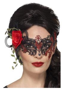 masque squelette mexicain, masque de déguisement, masque mexicain halloween, masque déguisement halloween, accessoire déguisement halloween masque, masque en papier maché, masque dia de la muerte, masque halloween, masque halloween day of death, déguisement jour des morts, masque jour de morts adulte, masque halloween femme, Loup Dentelle Métal, Jour des Morts