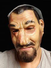 masque bouche ouverte, masque de déguisement, accessoire masque déguisement, accessoire masque halloween, accessoire déguisement halloween, masque horreur halloween, accessoire masque horreur, masque latex déguisement Masque d'Homme, Latex