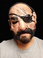 masque bouche ouverte, masque avec ouverture bouche, masque de déguisement, accessoire masque déguisement, accessoire masque halloween, accessoire déguisement halloween, masque horreur halloween, accessoire masque horreur, masque latex déguisement, masque pirate halloween Masque d'Homme, Cache Oeil, Latex
