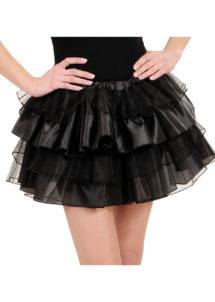 tutu pour femme, tutu noir, jupon noir, jupon femme, tutu femme déguisement, déguisement tutu, accessoire tutu déguisement, accessoire déguisement tutu noir, Tutu Noir, en Tulle et Satin
