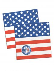 décorations américaine, serviettes drapeau américain, décorations états unis déguisement, accessoire drapeau américain, soirée à thème états unis décorations Vaisselle Etats Unis, Serviettes Drapeau Américain, Macaron