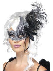 masque vénitien, loup vénitien, masque en dentelle, loup noir en dentelle, masque vénitien déguisement, déguisement vénitien masque, loup vénitien déguisement femme, déguisement vénitien, masque pour soirée vénitienne, masque carnaval de venise paris Loup Dark Angel, avec Plumes