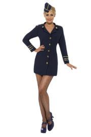 déguisement hotesse de l'air femme, déguisement pilote femme, déguisement femme pas cher, costume hôtesse de l'air adulte, déguisement hôtesse de l'air adulte, déguisement thème métiers femme Déguisement Hôtesse de l'Air, Navy Blue