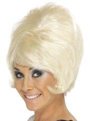 perruque femme pas cher, perruque de déguisement, perruque pour femme, perruque années 60, perruque blonde femme, accessoire années 60 déguisement, accessoire déguisement perruque Perruque Beehive Années 60, Blonde