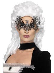 masque vénitien, loup vénitien, masque en dentelle, loup noir en dentelle, masque vénitien déguisement, déguisement vénitien masque, loup vénitien déguisement femme, déguisement vénitien, masque pour soirée vénitienne, masque carnaval de venise paris Loup Black Widow, Métal et Strass