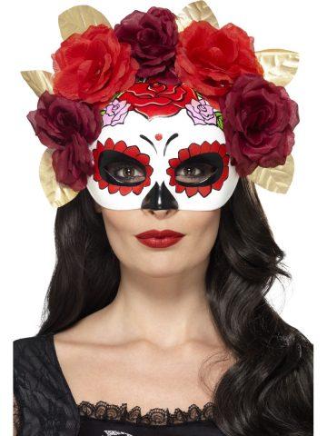 loup jour des morts squelette mexicain fleurs rouges aux feux de la f te paris. Black Bedroom Furniture Sets. Home Design Ideas
