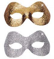 masque vénitien, loup vénitien, loup vénitien paillettes argent, loup vénitien paillettes dorées, masques pour carnaval de venise, masque vénitien à paillettes, masque vénitien pas cher Loup Fidelio, Argent ou Or