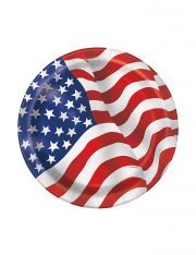 assiettes drapeau américain, décorations états unis, décoration drapeau américain, décoration soirée états unis, vaisselle drapeau américain Vaisselle Etats Unis, Assiettes Drapeau Américain PM