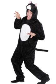 déguisement de chat homme, costume de chat homme, déguisement de chat adulte, déguisement d'animaux adulte, costume de chat femme, costume d'animaux pour femme, déguisement humour, costume de chat adulte, costumes d'animaux adulte Déguisement de Chat, Combinaison Peluche Noire