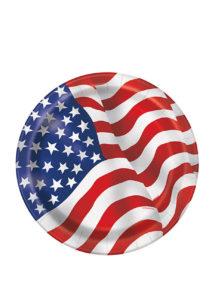 assiettes en carton, vaisselle jetable, vaisselle pour anniversaire, assiettes drapeau états unis, Vaisselle Etats Unis, Assiettes Drapeau Américain PM