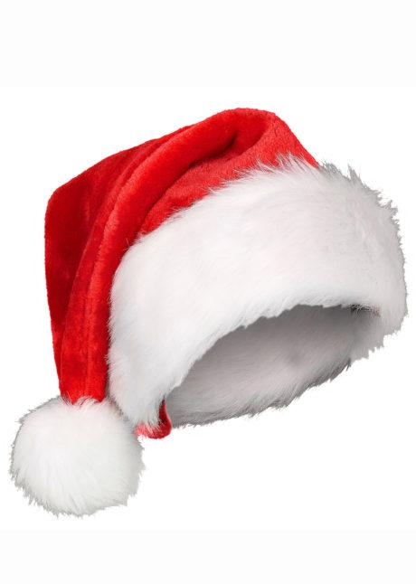 bonnet de noel, bonnet de père noel, bonnet de noel velours, bonnet de noel bonne qualité, Bonnet de Père Noël, en Velours et Fausse Fourrure