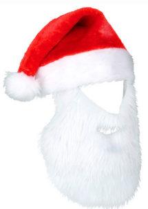 bonnet Noel avec barbe, bonnet barbe de père noel, Bonnet de Père Noël, avec Barbe Intégrée, Incognito