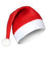 bonnet de noel, chapeau de noel, bonnet de père noel, bonnet noel lumineux, bonnet noel clignotant, bonnet de pere noel, accessoire pere noel déguisement, bonnet rouge noel, bonnet classique noel, bonnet original pere noel, bonnet Père Noël Bonnet de Père Noël, en Feutrine et Pompon Fausse Fourrure