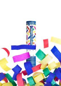 canon à confettis, canons à serpentins, cotillons de réveillon, cotillons de fêtes, canons à confettis, canons serpentins fetes, cotillons, Canon à Confettis, 20 cm
