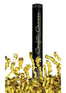 canon à serpentins, canons confettis, cotillons de noel, cotillons de réveillon, Canon à Serpentins, Métal Doré, 80 cm
