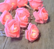 guirlande lumineuse led, décorations noel boutique, décoration à led boutique paris, guirlande originale lumineuse led paris, décorations led, guirlande raffia lumineuse Guirlande Lumineuse, Roses Rose Pâle