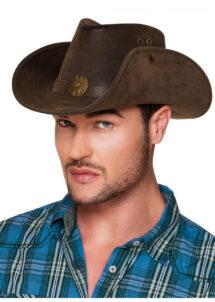 chapeau de cowboy, chapeaux de cowboys, chapeaux de cow boy, accessoires déguisement cowboy, Chapeau de Cowboy, Marron, Nevada