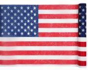 chemin de table décoration américaine, chemin de table drapeau américain, décorations américaines, accessoire soirée américaine, décorations soirée élection américaine Thème Etats Unis, Chemin de Table Drapeau Américain