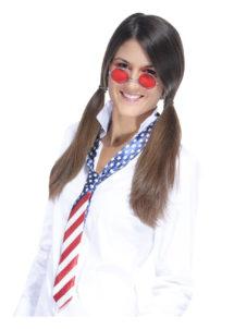 accessoire américain déguisement, accessoire drapeau américain, cravate drapeau américain déguisement, accessoire soirée américaine, Cravate Drapeau Américain