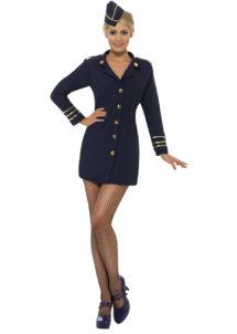 déguisement hotesse de l'air femme, costume hôtesse de l'air adulte, déguisement hôtesse de l'air adulte, déguisement métiers femme, Déguisement d'Hôtesse de l'Air, Navy Blue