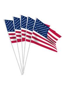 drapeau américain, drapeaux de table états unis, décorations drapeau américain, décorations états unis, Drapeau Américain X 10, Drapeaux de Table