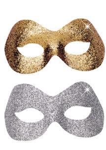 masque vénitien, loup vénitien, loup vénitien paillettes argent, loup vénitien paillettes dorées, masques pour carnaval de venise, Loup Fidelio, Argent ou Or