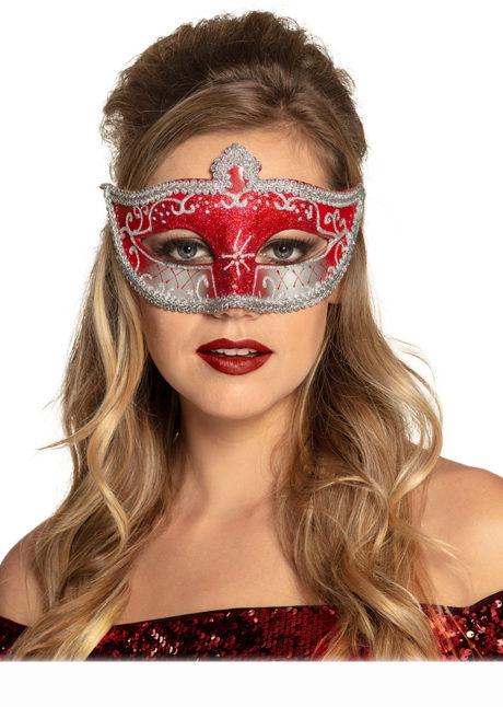 masque vénitien, loup vénitien, masque carnaval de Venise, masque vénitien doré, Loup Corona, Paillettes Rouges et Argent