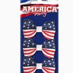 barrette drapeau américain, accessoire drapeau américain, accessoire américain déguisement, accessoire cheveux drapeaux américains Barrettes Drapeau Américain