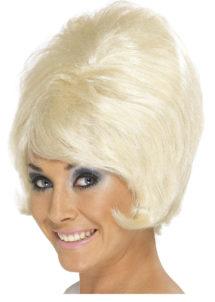 perruque blonde femme, perruque années soixante, perruque sixties, perruque blonde pour femme, perruque années 60, Perruque Beehive Années 60, Blonde