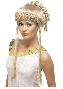 perruque romaine, perruque grecque, perruque déesse romaine, perruque antiquité, perruque greco romaine, Perruque Déesse Romaine et Grecque, Blonde