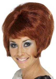 perruque rousse femme, perruque années 60, perruque sixties femme, perruque rousse pour femme, Perruque Beehive Années 60, Rousse
