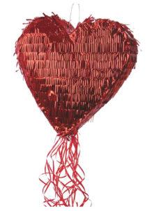 pinata, pinata mexicaine, pinata d'anniversaire, pinata pour anniversaire, pinata en forme de coeur, Pinata, Coeur Rouge Lamé