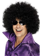 perruque afro disco, accessoire perruque déguisement, perruque afro disco, perruque pour homme, perruque pas chère, perruque de déguisement, perruque homme, perruque noire, perruque afro Perruque Afro Huge, Disco, Noire