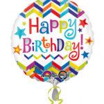 ballon hélium, ballon anniversaire, ballon happy birthday, ballon à l'hélium, ballon aluminium, ballon mylar Ballon Aluminium Anniversaire, Happy Birthday Crazy