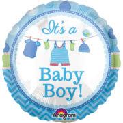 ballon de naissance, ballon bébé fille, ballon hélium, ballon baby shower, ballon gonflage hélium, décoration baby shower Ballon Aluminium, Naissance Bébé Garçon, It's a Baby Boy