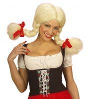 perruque pas chère à paris, perruques femmes, perruques de déguisement, perruque blonde, perruque heidi, perruque couettes, perruque bavaroise, perruque heidi, déguisement heidi Perruque Heidi, Blonde