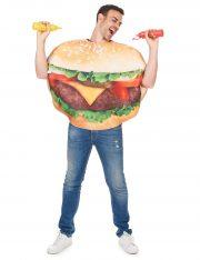 déguisement homme, déguisement burger adulte, déguisement humour, déguisement frites, déguisement hamburger Déguisement Burger