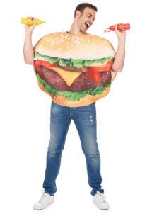déguisement homme, déguisement burger adulte, déguisement humour, déguisement frites, déguisement hamburger, Déguisement Burger
