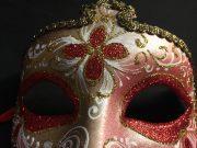 masque vénitien, loup vénitien, masque carnaval de venise, véritable masque vénitien, accessoire carnaval de venise, déguisement carnaval de venise, loup vénitien fait main Vénitien, Civette Luxe à Pointe, Rouge