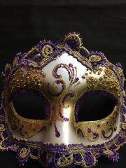 masque vénitien, loup vénitien, masque carnaval de venise, véritable masque vénitien, accessoire carnaval de venise, déguisement carnaval de venise, loup vénitien fait main Venitien, Civette Giada, Violet
