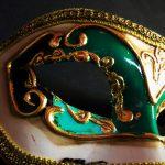 masque vénitien, loup vénitien déguisement, masque venitien homme, acheter masque vénitien paris, masque vénitien femme, boutique masque vénitien paris, masque vénitien fait main Vénitien, Civette Décor, Vert