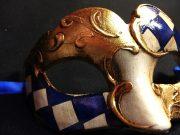 masque vénitien, loup vénitien déguisement, masque venitien homme, acheter masque vénitien paris, masque vénitien femme, boutique masque vénitien paris, masque vénitien fait main Vénitien, Civette Mini, Damier Bleu