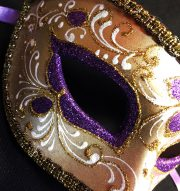 masque vénitien, loup vénitien déguisement, masque venitien homme, acheter masque vénitien paris, masque vénitien femme, boutique masque vénitien paris, masque vénitien fait main Vénitien, Civette Luxe, Violet