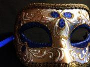 masque vénitien, loup vénitien déguisement, masque venitien homme, acheter masque vénitien paris, masque vénitien femme, boutique masque vénitien paris, masque vénitien fait main Vénitien, Civette Luxe, Bleu