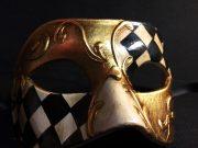 masque vénitien, loup vénitien déguisement, masque venitien homme, acheter masque vénitien paris, masque vénitien femme, boutique masque vénitien paris, masque vénitien fait main Vénitien, Civette Damier, Noir et Or