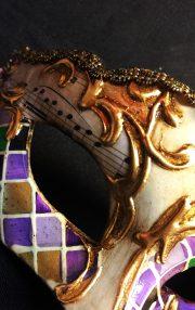 masque vénitien, loup vénitien déguisement, masque venitien homme, acheter masque vénitien paris, masque vénitien femme, boutique masque vénitien paris, masque vénitien fait main Vénitien, Civette Mini, Mosaïque Violette