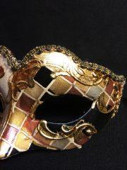 masque vénitien, loup vénitien déguisement, masque venitien homme, acheter masque vénitien paris, masque vénitien femme, boutique masque vénitien paris, masque vénitien fait main Vénitien, Civette Mini, Mosaïque Marron